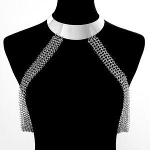 Trendy Silver Body Chain
